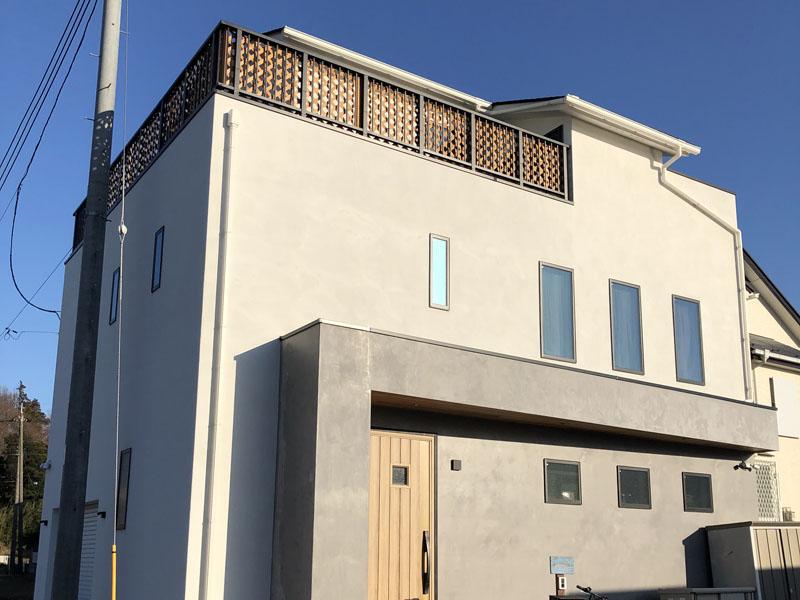 埼玉県新座市 一般住宅 外壁光触媒施工