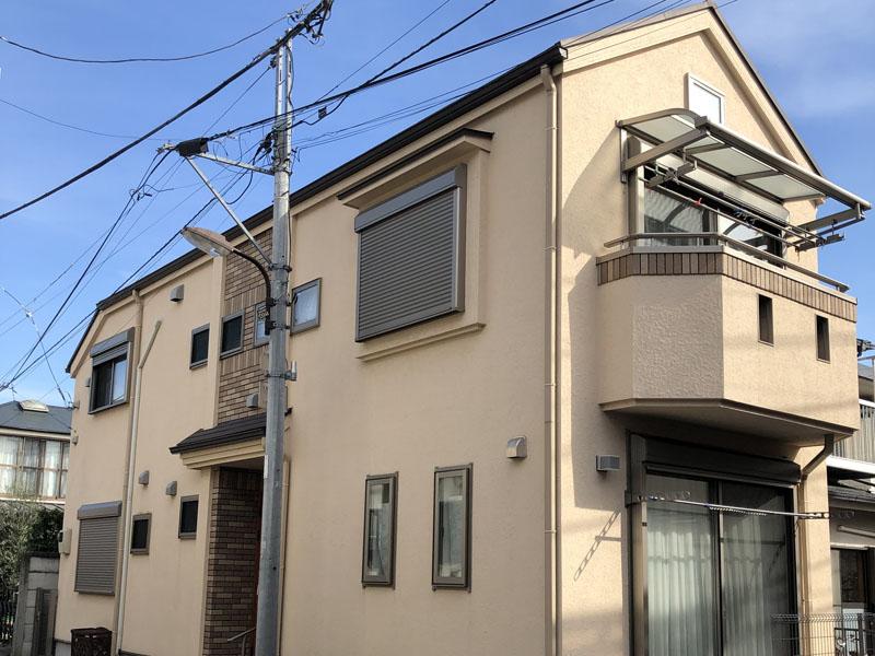 東京都豊島区 Tアパート 外壁光触媒施工