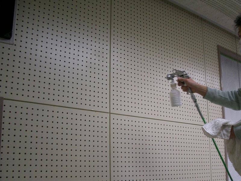 千葉県山武郡 中央公民館視聴覚室 内装光触媒施工