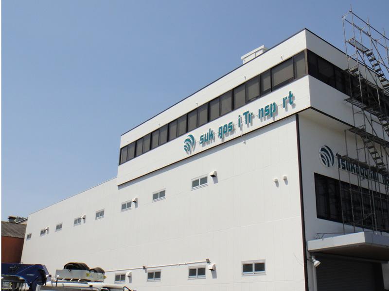 京都市 T運送 上鳥羽営業所 外壁光触媒施工