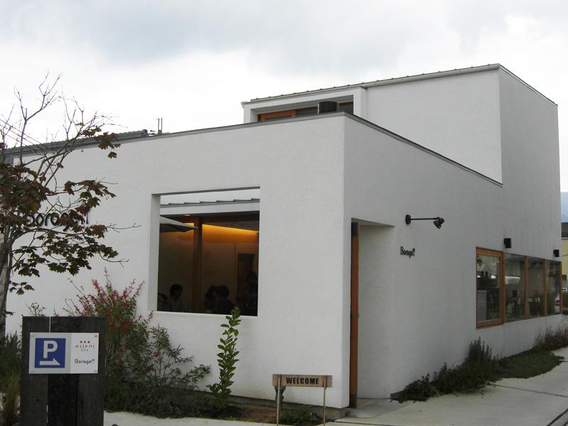兵庫県 寺内のカフェ 外壁光触媒施工