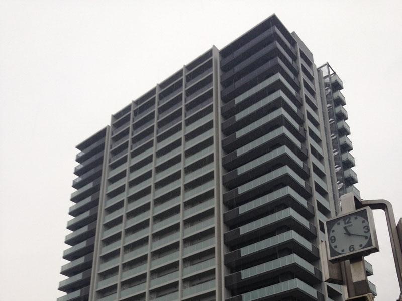 愛知県知立市 エムズシティ知立 ザ・タワー 外壁光触媒施工