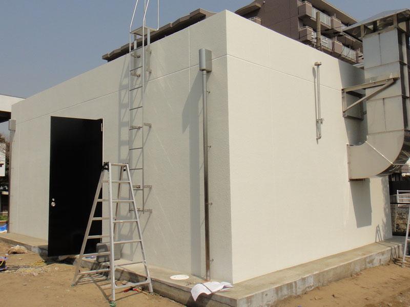 和歌山地方気象台内施設 外壁光触媒施工